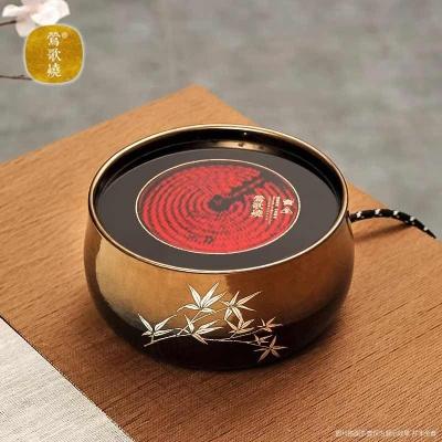 莺歌烧电陶炉煮茶家用茶炉 小型台式铁壶银壶泡茶煮茶器 黑金修竹