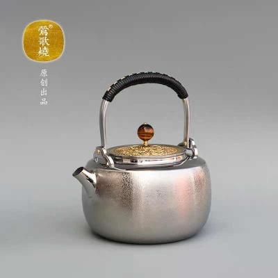 台湾莺歌烧电陶炉 食用级316不锈钢烧水壶提梁壶煮水茶壶 限量款