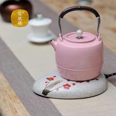 莺歌烧 E70 鹿鸣堂电热水壶家用煮茶壶316不锈钢烧水壶可自动断电