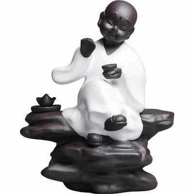 成艺茶宠摆件品茶小和尚茶玩手工可养开片茶具茶道零配佛像仿哥窑