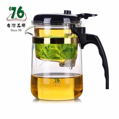 跨境台湾76飘逸杯 高硼硅玻璃茶具YD-370过滤茶器泡茶壶370ml