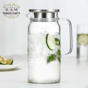 北大史家用玻璃凉水壶耐高温夏天冷水大容量装果汁扎壶凉白开水杯