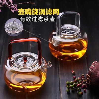 北大史加厚玻璃提梁壶耐热耐高温大号过滤烧水泡茶壶电陶炉煮茶壶