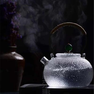 手工烧水壶玻璃茶壶黑茶普洱煮茶器泡茶壶铁壶猫眼石提纽