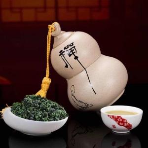 2017年新茶 浓香型安溪铁观音高档陶瓷礼盒装正品兰花香茶礼包邮