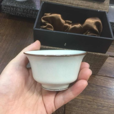 精品龙泉青瓷 周连福全手工品杯