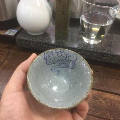 德化陶杯,手绘品杯 冰裂纹 古朴典雅