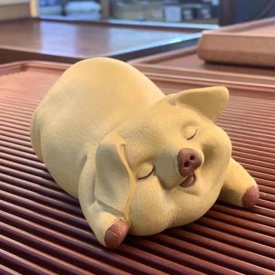 紫砂可爱猪茶宠