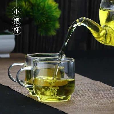 北大史02小把杯 耐高温玻璃小品杯茶杯 一盒6个