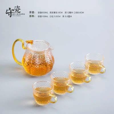 玻璃茶具一壶四杯组