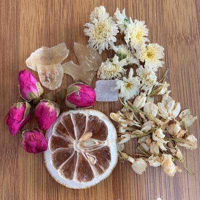 玫瑰花百合花茉莉花菊花柠檬片冰糖 美容养颜护肝养肺一袋一泡携带方便🌹