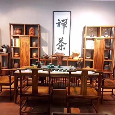 胡桃木新中式茶桌