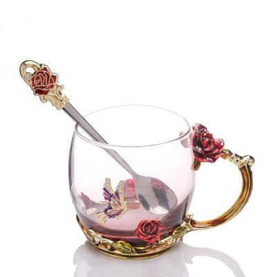 珐琅彩水杯【小仙女杯】还有小勺子哦