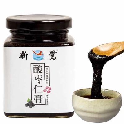 新鹭酸枣仁膏助百合茯苓蜂蜜茶睡眠桑甚桂圆汤泡水喝的300g,少糖饮品。