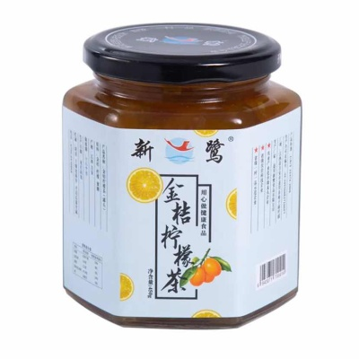 金桔柠檬茶柑橘果酱果肉饮料450g泡水喝的办公室饮品养生茶,少糖饮品。