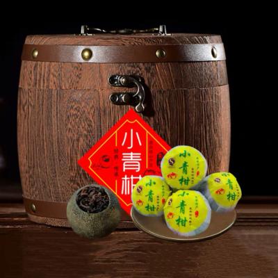 青皮小青柑普洱茶陈皮橘子茶熟普洱茶一木桶装