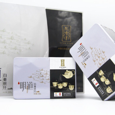 厦门金砖会晤选用产品明道特级白毫银针【规格】200g(5克*10袋