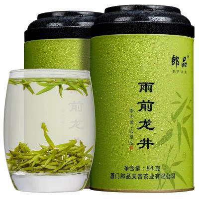 郎品 龙井 茶叶 绿茶 龙井绿茶礼盒罐装84克
