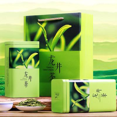 西湖明前龙井茶叶绿茶2019新茶杭州春茶散装茶叶罐装