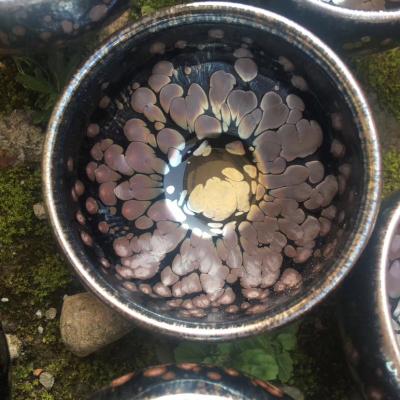 建阳建盏牡丹盏,高5.5口径8