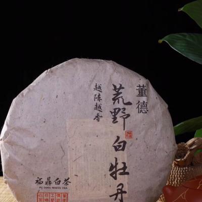 董德白茶2012年荒野白牡丹300克茶饼 福鼎白茶 2017年出厂