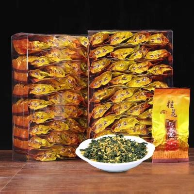 桂花乌龙茶,台湾冻顶乌龙茶加桂花熏质而成、具有乌龙茶特色奶香味也有桂花