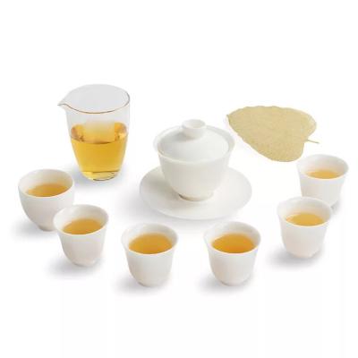 白玉陶瓷功夫茶具,礼品茶具套装