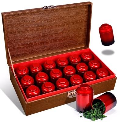 铁观音茶叶礼盒装浓香型高山新茶乌龙茶罐装过年过节送礼18罐360g