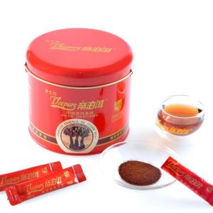 天士力帝泊洱即溶普洱茶珍 古茶型90支 酒红铁罐礼盒