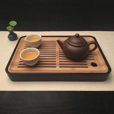 电木小茶盘功夫茶具套装储水茶台茶托办公茶盘方形办公日式20x30x4