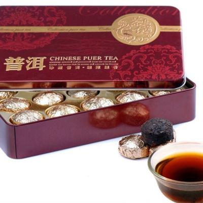 铁盒装普洱小沱茶熟茶 原味熟普 商旅人士爆款
