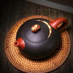 正宗宜兴紫砂壶月际壶名人紫砂壶全手工壶茶壶茶具茶杯茶具容量270cc