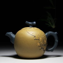 正宗宜兴紫砂壶名人紫砂壶拼色梅花壶茶壶茶具茶杯套装原矿段泥容量270c