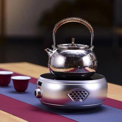 信轩堂电陶炉玻璃煮茶壶套装蒸汽茶器小型电磁炉家用光波炉电热炉