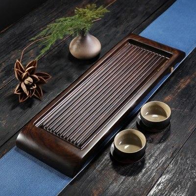 干湿泡两用 黑檀木 简约电木整块实木排水功夫茶海小茶台
