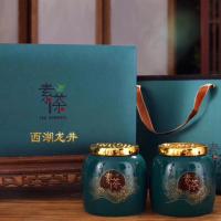正宗龙井茶2019新茶明前特级龙井绿茶叶嫩芽春茶浓香型礼盒装400克