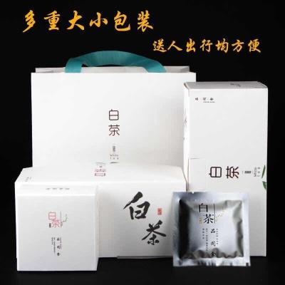 2016年福鼎白茶贡眉饼干茶陈年寿眉老白茶饼送礼盒装特级白茶(64片)