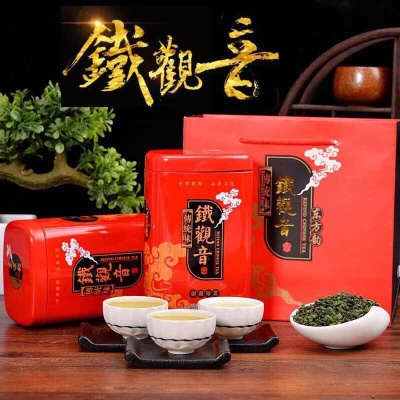 2019新茶铁观音茶叶安溪浓香型乌龙茶正品高档礼盒装春茶500g