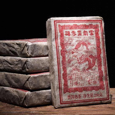2007年正宗  云南班章普洱熟茶普洱茶砖枣香砖陈茶250g普洱熟茶砖