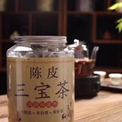 陈皮三宝茶 + 牡丹老白茶+禾秆草