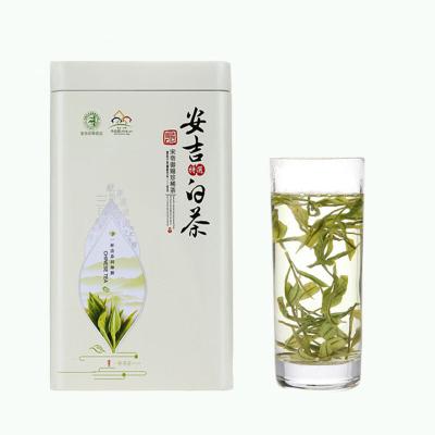 2019年散装绿茶安吉白茶产地货源100克罐装雨前茶叶