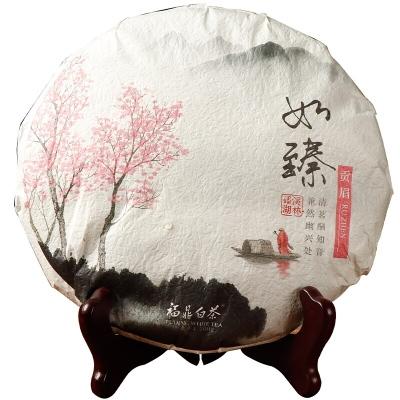 福鼎白茶茶叶特级2018年贡眉茶饼300g福建高山老寿眉礼盒装