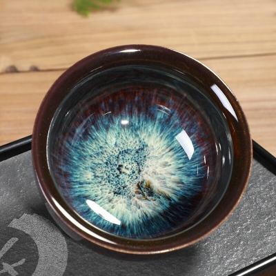 窑变茶杯陶瓷茶盏建盏功夫大茶杯主人杯单杯茶具茶碗品茗杯个人杯