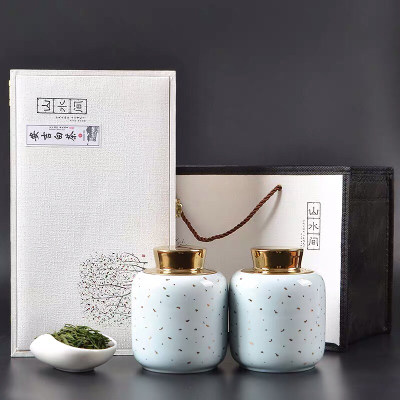 2019新茶正宗安吉白茶礼盒装 100g装陶瓷罐茶叶春茶 明前绿茶送礼