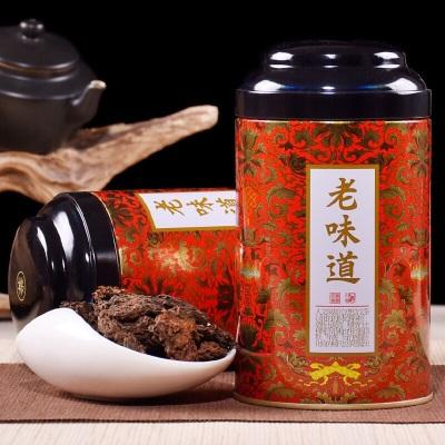 云南熟茶8年左右老茶头一斤两罐装送礼老味道