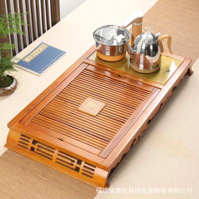 全自动功夫茶盘,底部上水,送茶具