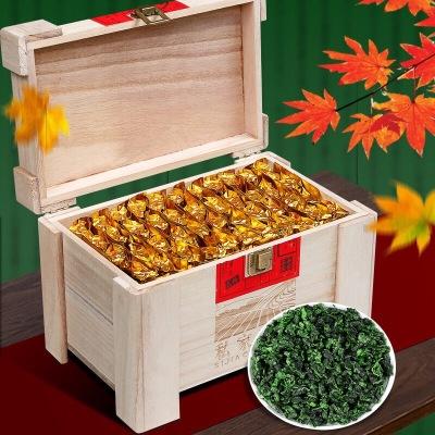 2019新茶浓香型乌龙茶铁观音茶叶500g小包装实木礼盒装秋茶新茶