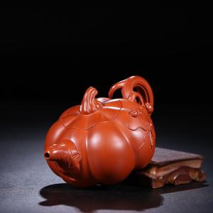 正宗宜兴紫砂壶茶壶茶具茶杯套装名人紫砂壶纯手工壶南瓜壶容量280