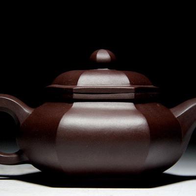 正宗宜兴紫砂壶茶壶茶具茶杯套装名人紫砂壶纯手工壶六方壶容量230