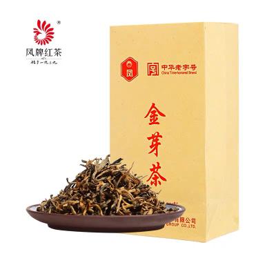 凤牌红茶 茶叶 云南滇红茶特级机制金芽茶250g